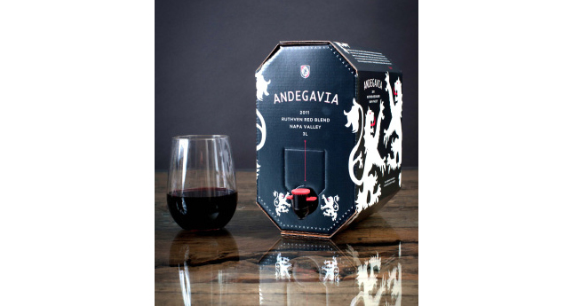 Andegavia's Ruthven Napa Valley Red Blend 2011 in a cardboard keg