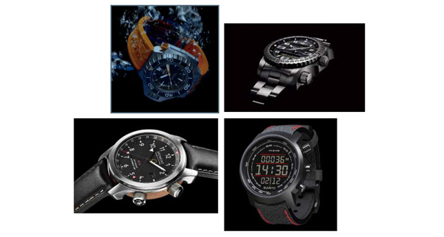 © Omega Watches, © Breitling, © Bremont, © Suunto