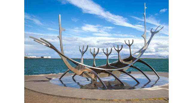 Sun Voyager sculpture in Reykjavík