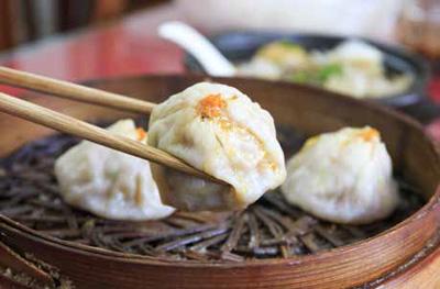 Chinese dim sum steamed buns