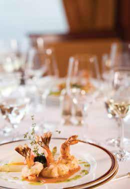 Fine dining on board Silversea Cruises