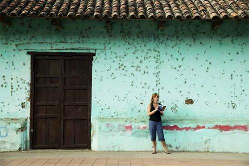 An American tourist in Granada, Nicaragua