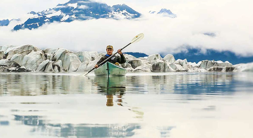 Kayaking during John Hall's Alaska Untamed Alaska Tour