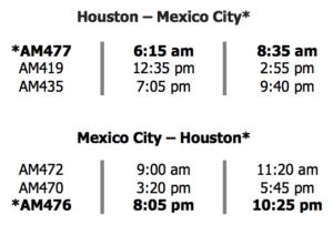 Aeromexico Chart