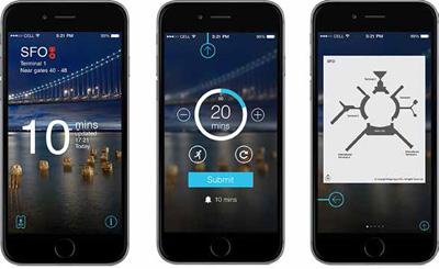 MiFlight app gives passengers estimated security line wait times.