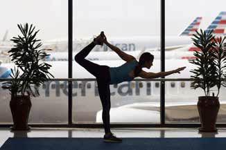 Dallas/Fort Worth Airport's Yoga Studio in Terminal D