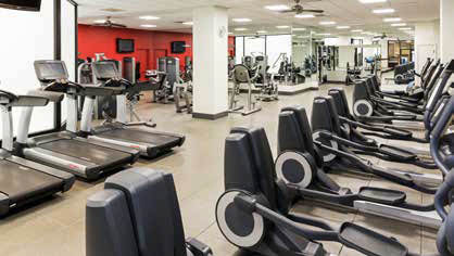 Fitness room at Hilton Chicago O'Hare Airport