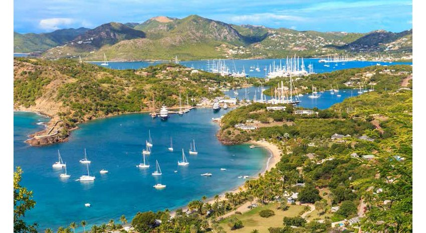 View of Antigua bays from Shirley Heights