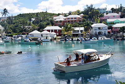 Colorful Bermuda waterfront homes