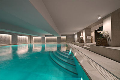 Hotel D'Angleterre's Amazing Space Spa pool in Copenhagen
