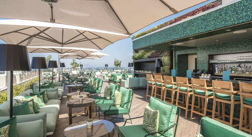 The Rooftop by JG at the Waldorf Astoria © BEVERLY HILLS CVB