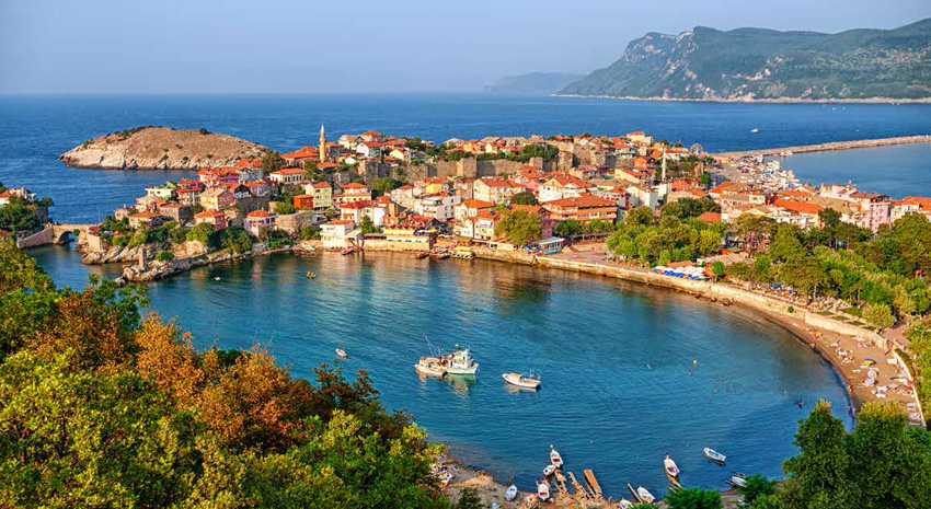 Town of Amasra on the Black Sea coast