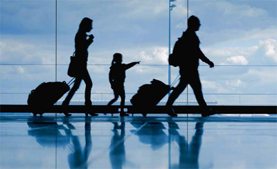 Combining business and leisure travel with family
