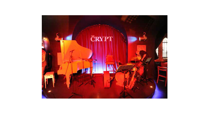The Crypt is a great place to listen to live jazz music.