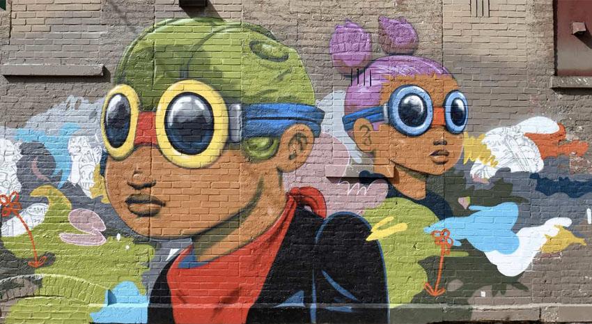 Wicker Park mural by Hebru Brantley PHOTO: © JIM ROBERTS - DREAMSTIME.COM