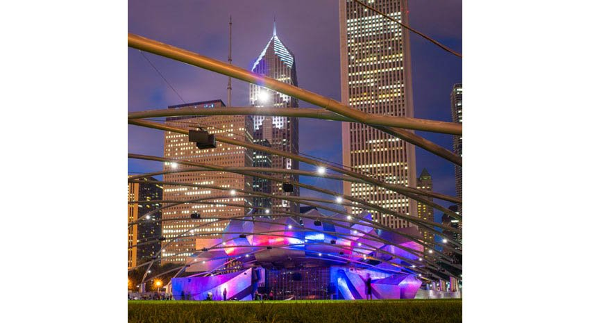 Frank Gehry-designed amphitheater at Millennium Park