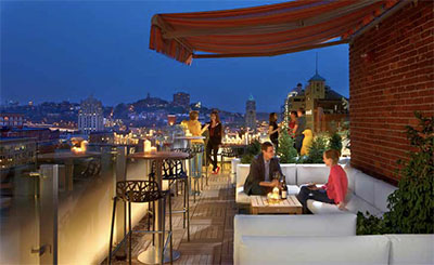 Rooftop bar at 21c Museum Hotel