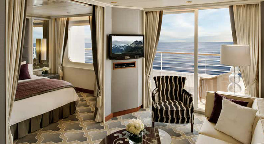 Crystal Serenity Penthouse Suite with veranda © CRYSTAL CRUISES