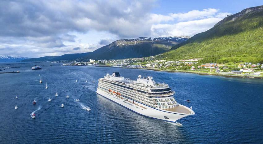 Viking Sky christening in Tromsø, Norway