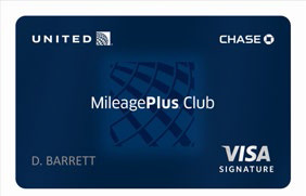 © UNITED MILEAGE PLUS CLUB CARD FROM CHASE
