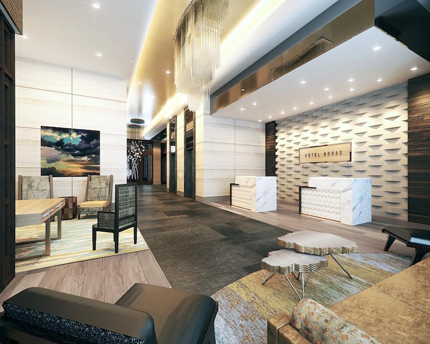 Hotel Arras Lobby Area © McKibbon Hospitality