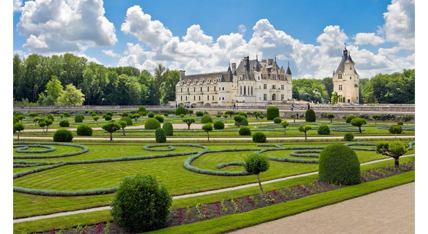 A view from the garden at Chenonceau