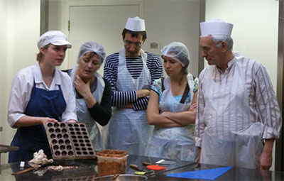 Chocolate-making class at Planète Chocolat