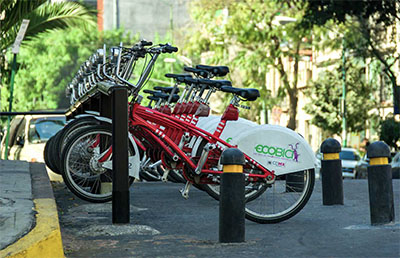 Bikes available to rent in the city © AGCUESTA   DREAMSTIME.COM