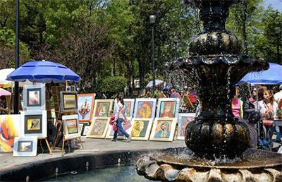 Saturday Bazaar in the San Ángel neighborhood