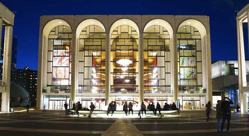 The Metropolitan Opera at Lincoln Center in Manhattan