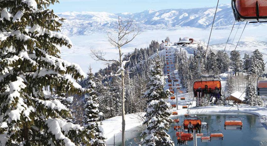 Ski lift over Alpine Lake PHOTO: © VAIL RERSORTS