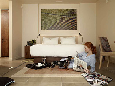 Four-legged guests enjoying their stay at Bardessono © BARDESSONO