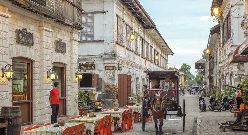 The streets of Vigan