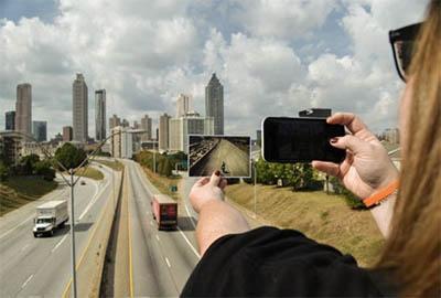 Big Zombie Tour 1 with Atlanta Movie Tours visits the Jackson Street Bridge