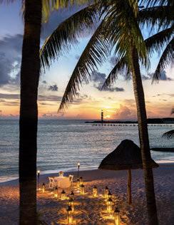 Grand Fiesta Americana Coral Beach, Cancún romantic beach dinner © POSADAS