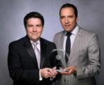 Jorge Goytortúa, vice president, global sales, Aeromexico; Raul Ivan Villanueva, regional sales director, Aeromexico