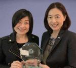 Frances Tsai, hotel manager, Mandarin Oriental Taipei; Luanne Li, director of marketing communications, Mandarin Oriental Taipei