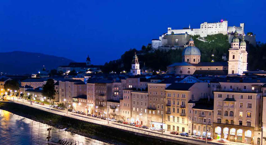 Salzburg with a view of Hohensalzburg Fortress © GINASANDERS | DREAMSTIME.COM
