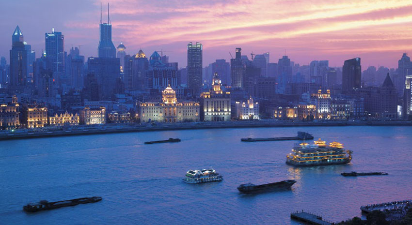 The magnificent Bund view from the Pudong Shangri-La PHOTO: © PUDONG SHANGRI-LA