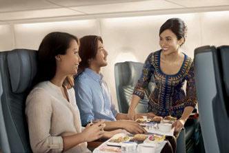 Airbus A350 cuisine © SINGAPORE AIRLINES