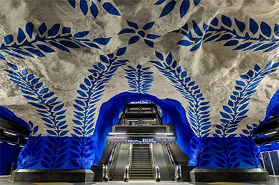 Stockholm Tunnel Rail art