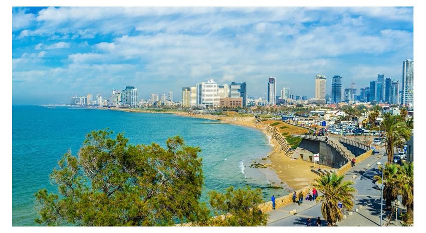 The coastline of Tel Aviv