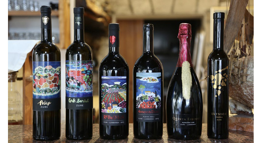 Wines from Zure Winery, Korčula © WIND & WINE CROATIA