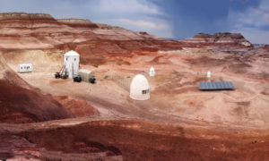 Panorama of the Mars Desert Research Station.