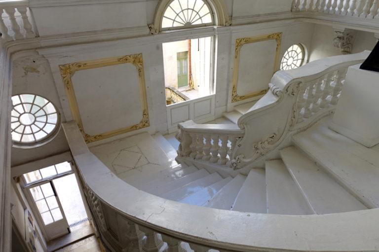 National Museum of Fine Arts with Stairway in Valletta, Malta