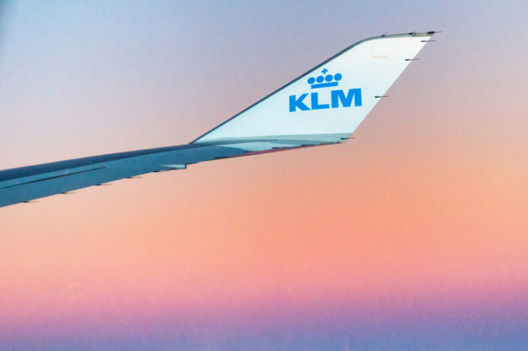 Boeing airplane from Royal Dutch Airlines KLM in the sky © Atosan | Dreamstime.com