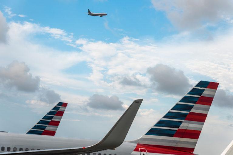 American Airlines in the hub © Spvvkr   Dreamstime.com