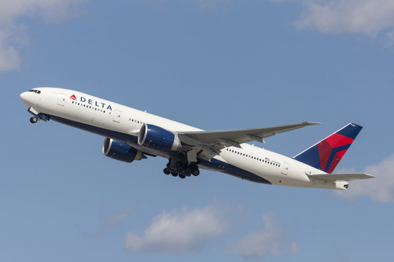 Delta Air Lines Boeing 777 airplane © Ryan Fletcher   Dreamstime.com