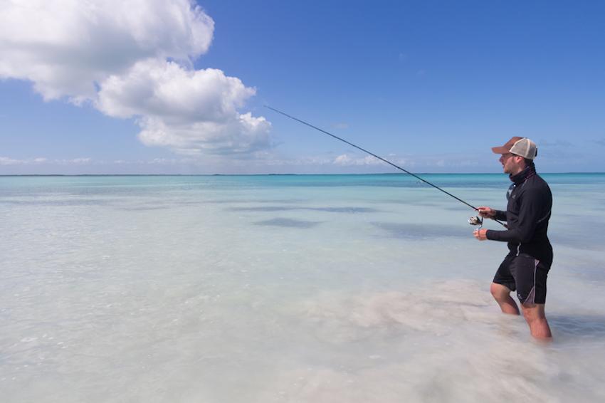 Flyfishing in Belize © Mailland David | Dreamstime.com
