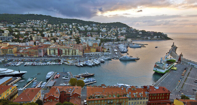 View of Nice Port from the Castle Hill
